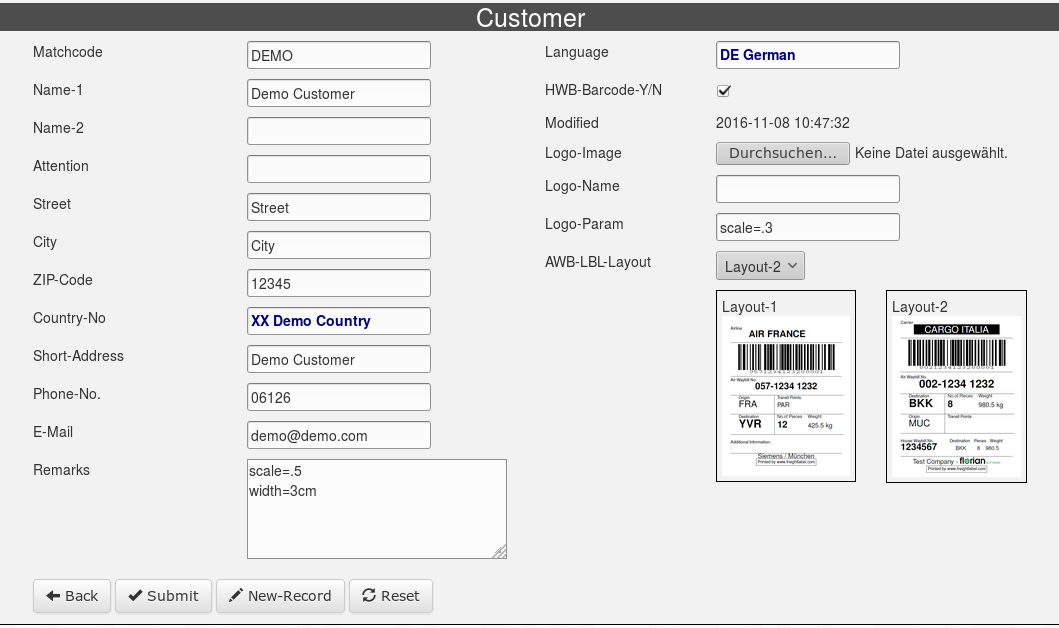 Customer-Entry-Form