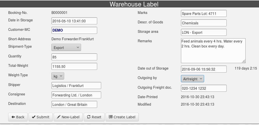 Warehouse-Entry-Form